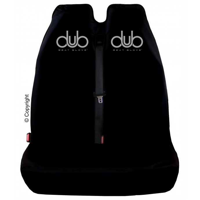 DUB SEAT GLOVE water resistant Front TWIN Seat Cover in Black Fits most VOLKSWAGEN T5 TRANSPORTER vehicles Top Quality!