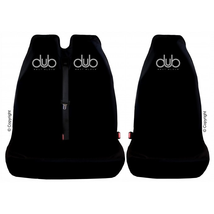 DUB SEAT GLOVE water resistant Rear Second Row Single & Twin Seat Covers in Black Fits most VOLKSWAGEN T5 TRANSPORTER vehicles Top Quality!